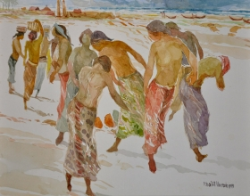 12-Khalil Ibrahim, East Coast Series (1999) Watercolour on Paper 29cm x 39cm