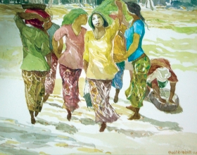 17-Khalil Ibrahim, East Coast, Sketch Book (2009) SOLD Watercolour on Paper 40cm x 31cm