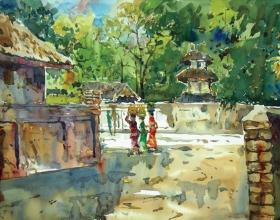 26-Shafurdin Habib, Bali Series (2010) 30.5cm x 45.8cm, Watercolour on Paper