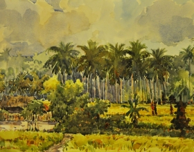 29-Shafurdin Habib, Bali Series, Offering II (2010) 30.5cm X 45.8cm Watercolour on Paper