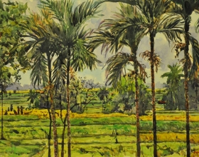 33-Shafurdin Habib, Bali Series, Panen II (2010) 30.5cm x 45.8cm, Watercolour on Paper