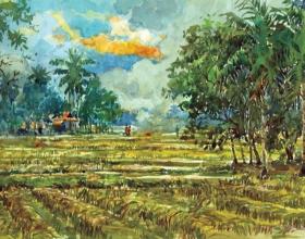50-Shafurdin Habib, Sg Besar Series 5 (2010) 30.5cm x 45.8cm, Watercolour on Paper