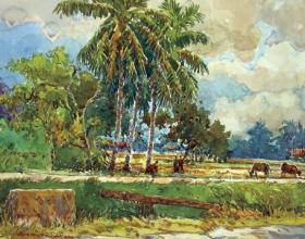 51-Shafurdin Habib, Sg Besar Series 6 (2010) 30.5cm x 45.8cm, Watercolour on Paper