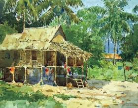 52-Shafurdin Habib, Sg Besar Series 7 (2010) 30.5cm x 45.8cm, Watercolour on Paper