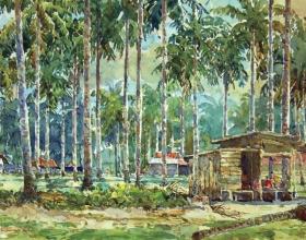 54-Shafurdin Habib, Sg Besar Series, Paka, Terengganu (2010) 30.5cm x 45.8cm, Watercolour on Paper