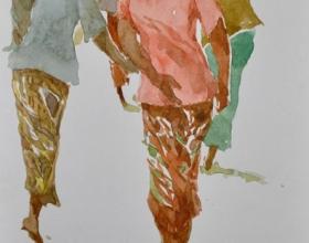 10-Khalil Ibrahim, East Coast Series, (undated) SOLD Watercolour on Paper 14.5cm x 21cm