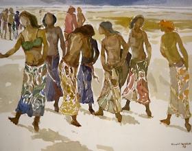 11-Khalil Ibrahim, East Coast Series (1995) SOLD Watercolour on Paper 29cm x 39cm