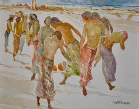 12-Khalil Ibrahim, East Coast Series (1999) Watercolour on Paper 29cm x 39cm