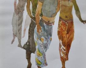 13-Khalil Ibrahim, East Coast Series (2002) SOLD Watercolour on Paper 19cm x 29m