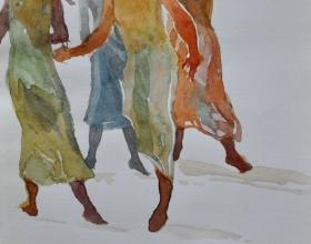 14-Khalil Ibrahim, East Coast Series, (2004) SOLD Watercolour on Paper 19cm x 29cm