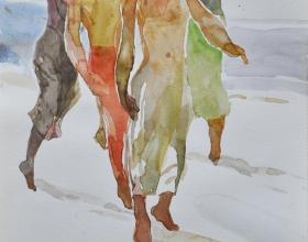 15-Khalil Ibrahim, East Coast Series (2005) SOLD Watercolour on Paper 19cm x 29cm