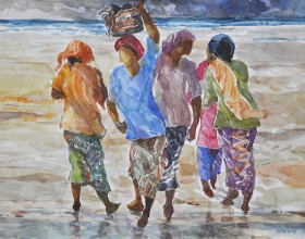 8-Khalil Ibrahim, East Coast Series, (2008) SOLD Watercolour on Paper 40cm x 29cm