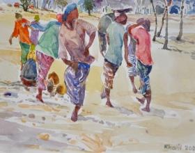 9-Khalil Ibrahim, East Coast Series, (2009) SOLD Watercolour on Paper 24cm x 17cm