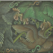 Two Cockerels, 1993 RM 2,750.00-SOLD | Oil on canvas | 42 x 58 cm