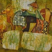8-Buffalo Tender, Undated RM 11,000.00-SOLD | Batik | 72.3 x 87.5 cm