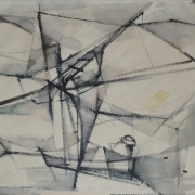 3-Fishing Net, 1963 RM 3,850.00-SOLD | Watercolour on paper | 34 x 49 cm