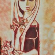 6-Sweet Scent, Undated RM 9,350.00-SOLD   Batik   59 x 43 cm