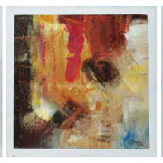 4-Abstract I, II & III, 2005 RM 3,850.00-SOLD | Oil on canvas | 27.5 cm x 27.5 cm x 3 pieces