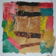 5-Abstract I, II & III, 2000 RM 2,750.00-SOLD | Mixed media on canvas | 28.5 x 28.5 cm x 3 pieces