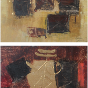 2-Abstract, 2006 RM 3,520.00-SOLD | Oil on canvas | 27.5 cm x 27.5 cm x 2 pieces