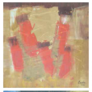 6-Auction XI Sjafri Abstract A, B & C, 2006 RM 5,040.00-SOLD | Mixed media on canvas | 25 x 25 cm x 3 pieces