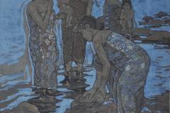 LOT 22 Ismail-Mat-Hussin-_Bathing_-Batik-83.5-x-78-cm-2000-RM-28,000---36,000