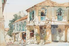 LOT 49 Ong-Kim-Seng-_Chinatown_-(1991)-36cm-x-54cm-Watercolour-on-paper-RM-14,000---24,000-