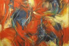 LOT 12 Yusof-Ghani-Siri-Segerak---Gold-Miner-(2003)-122cm-x-122cm-Oil-on-Canvas-RM-25,000---40,000-