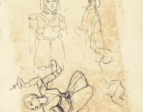 13-Dancers, 1970 Pen & Ink on Paper | 20.2cm x 24.5cm
