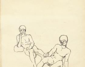 14-English, 1980 Pen & Ink on Paper | 20.2cm x 24.5cm