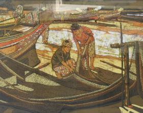 3-Pantai Sabak, 2010 Batik 75.5cm x 158.5cm