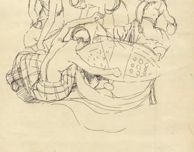 38-Study of Movement-Wau, 1971 Pen & Ink on Paper | 20.2cm x 24.5cm