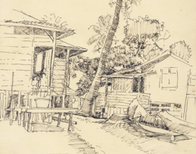 43-Tumpat, 1982 Pen & Ink on Paper | 20.2cm x 24.5cm