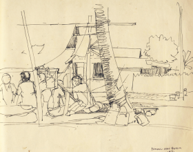 45-Wakaf, 1971 Pen & Ink on Paper | 20.2cm x 24.5cm