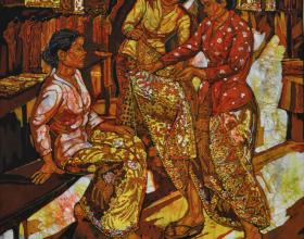 53-Batik Seller, 2012 Batik 82.5cm x 73cm
