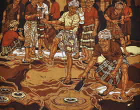 65-Playing Gasing, 2000 Batik 98cm x 104cm