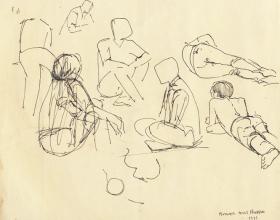 11-Study of Figures, 1969 Pen & Ink on Paper | 20.2cm x 24.5cm