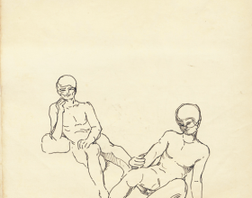 14-English, 1980 Pen & Ink on Paper | 20.2cm x 24.5cm