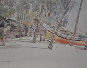 2-Pantai Sabak, 1976 Watercolour on Paper 29cm x 42cm