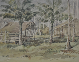 8-Wakaf, 1976 Watercolour on Paper 27.5cm x 39.5cm
