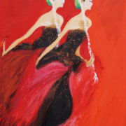 "2-RM 192,500.00-SOLD Srihadi Soedarso ""Bedaya Ketawang"" (2012) Oil on canvas 140 x 110 cm"