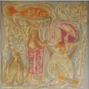 Fishseller, 1973 - 1974 RM 27,500.00-SOLD | Batik | 56 x 56 cm