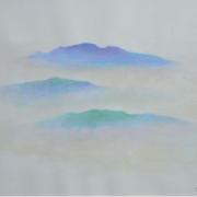 2-Dari Kapal Terbang Pagi, 2004 RM 23,100.00-SOLD | Watercolour on paper | 28 x 41 cm