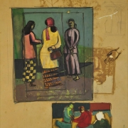 4-Untitled, Undated RM 10,080.00-SOLD | Mixed media on canvas | 26 x 21 cm