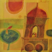 4-Waiting For The Lover, 1970 RM 30,800.00-SOLD | Oil on canvas | 61 x 58 cm