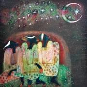 6-Auction IX Moon of Ramadhan, 1997 RM 44,000.00-SOLD | Oil on canvas | 127 x 127 cm