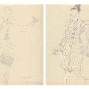 7-Auction IX Study of Kebaya Series (III & VI), 2011 RM 3,520.00-SOLD | Pencil on paper | 27 x 21 cm x 2 pieces