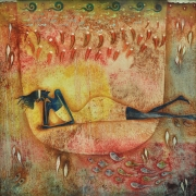 8-Auction XI Longing For Love, 1990RM 18,480.00-SOLD | Oil on canvas | 85 x 85 cm