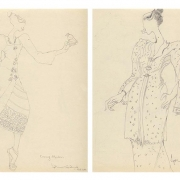 7-Auction IX Study of Kebaya Series (III & VI), 2011 RM 3,520.00-SOLD | Pencil on paper | 27 x 21 cm x 2 pieces