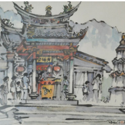 2-Temple, Undated RM 7,700.00-SOLD | Watercolour on paper | 44 x 69 cm